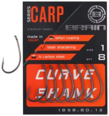 Brain Curve Shank, 8, single, 8